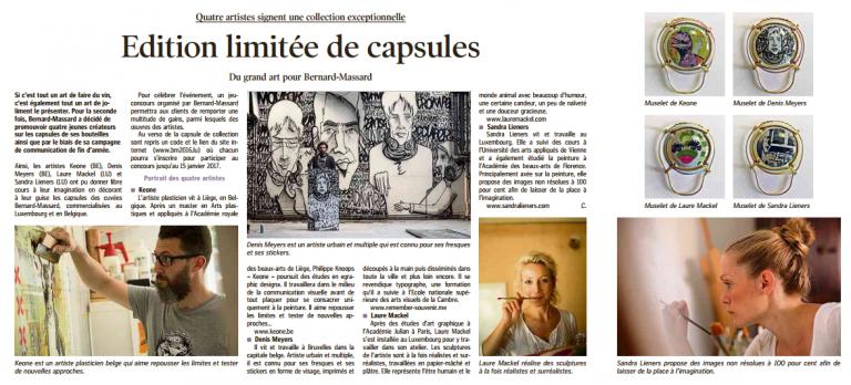 edition limitée de capsules | luxemburger wort | december 3rd '16 | LUX
